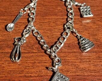 Baking Themed Charm Bracelets