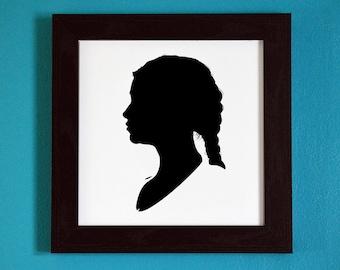 Game of Thrones - Daenerys Targaryen - Silhouette Portrait Print