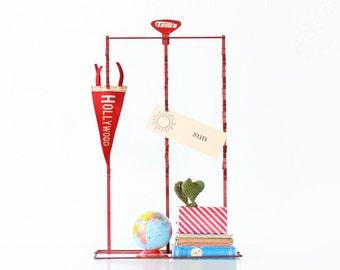Vintage Chip Clip Stand, Tom's Red Metal Display