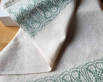 Tea or Kitchen Towel Handmade Sustainable Organic Cotton Linen Sage Green