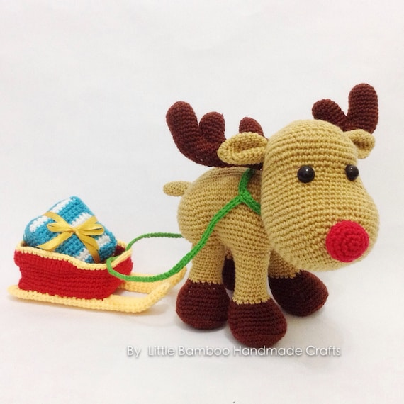 PATTERN - Reindeer And Sleigh - Crochet pattern, pdf from ...