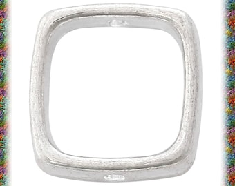 10 silver plated square bead frames