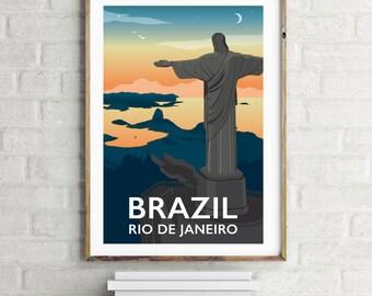 Rio de Janeiro, Brazil Giclee Print