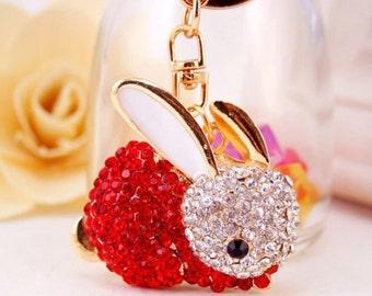 Rabbit Keychain, diamonds
