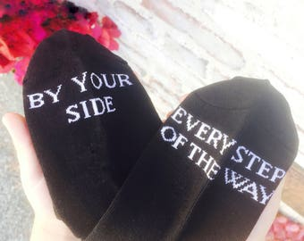 Father of the Bride wedding gift, Bestman gift bridal party gift idea by your side every step of the way socks