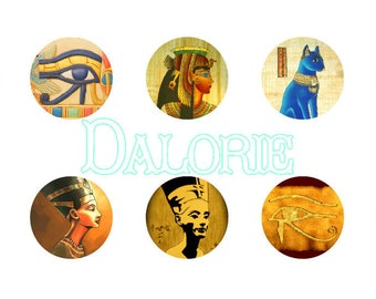 25 mm, Egyptian - Collage Planche Sheets d'Image digital Egyptian