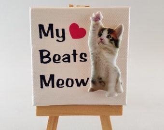 My Heart Beats Meow Canvas