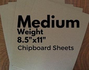 Chipboard Chip Board Sheets / Medium Weight Chipboard Cardboard /Recycled Thick Kraft Board / Brown Paper Board Sheets