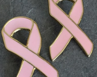 Pink Ribbon Breast Cancer Awareness Gift For Her Mother Girlfriend Wife Pin Set of 2