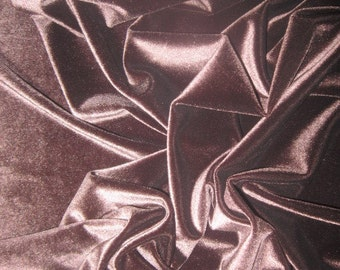 Chocolate Brown Velvet Fabric by the Yard Chocolate Dark Brown Stretch Velvet Fabric Clothing Apparel Fashion Costume Fabric Knit