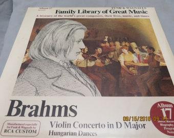 Brahms Violin Concerto in D Major Hungarian Dances Album 17 FW-317