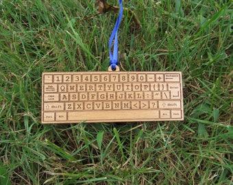 Custom Computer Keyboard Ornament