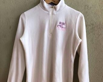 Rare!! Vintage courreges half zip up sweatshirt Ga7dV