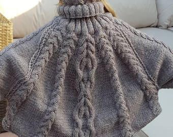 Girls Poncho with matching hat