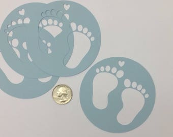 Baby boy foot print gift tags Baby shower gift tags. Set of 12 foot print gift tag. new baby Foot print decor. Feet print baby shower decor
