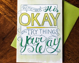 It's Okay Your Way - Card