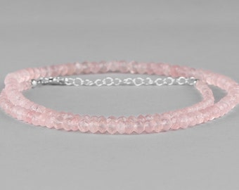 Rose Quartz*Rose Quartz Jewellery*Rose Quartz Necklace*AA Rose Quartz*Beaded Jeweller Necklace*Gemstone