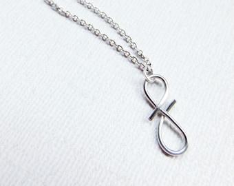 Monogram Necklace, Letter F Necklace,  Silver Initial Necklace, Cursive Letter Necklace, Letter Necklace, Initial Necklace, Wire Initial