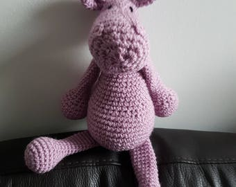 Crochet Hippo Toy-Soft Toy-Toy Hippo-Stuffed Animal