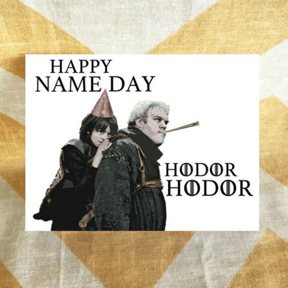 Game Of Thrones Birthday Card Hodor Bran Stark Happy