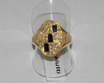 anello oro zaffiri diamanti Sapphire diamonds gold ring Saphir-Diamanten Goldrin Bague en or saphir et diamants