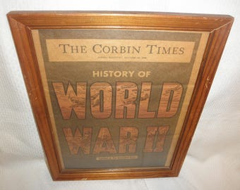 Antique Newspaper The Corbin Time Histor of World War 2 Compiled by The Associated Press 1945