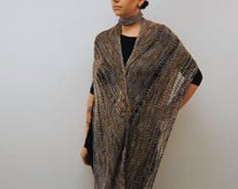 EXARCH Knitting Pattern PDF DK Weight Shawl