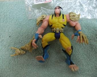 Vintage X Men Savage Land Wolverine Action Figure - 1997 X Men Savage Land Wolverine  Complete