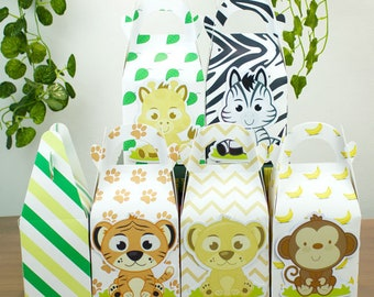 Animal Favor Box Candy Box Gift Box Cupcake Box Boy Kids Birthday Party Supplies Decoration Event Party Supplies
