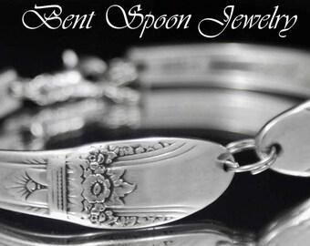 Spoon Jewelry, Vintage Bracelet, First Love 1937, Silverware Jewelry, Wedding Jewelry