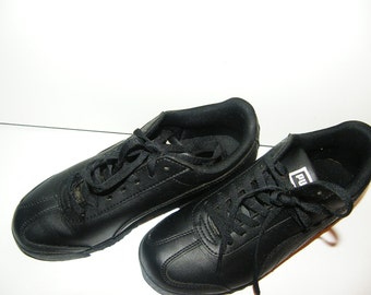 Black Leather sneakers running shoes Puma trainer