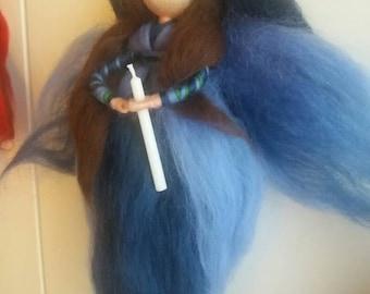 Advent Blue Angel Christmas Crib decoration Steiner Waldorf tree blue Breath Angel Christmas