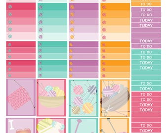 EC Knitting Downloadable Planner Stickers