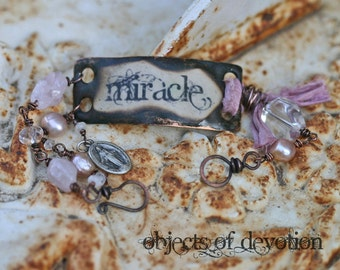 MIRACLE * Catholic Jewelry * Miraculous Medal Bracelet * Catholic Bracelet * Inspirational Gift * Catholic Gift * Inspirational Jewelry *