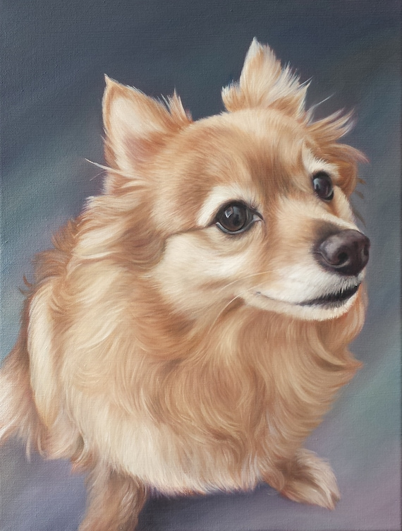 Custom Pet Portrait - Pet Painting - Oil painting - Perfect Gift - DOG PAINTING