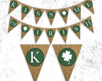 St Patty's Day Banner   Shamrock Banner   St. Patricks Day Decor   Lucky Irish Banner   Shamrock Garland   St. Patricks Day Party