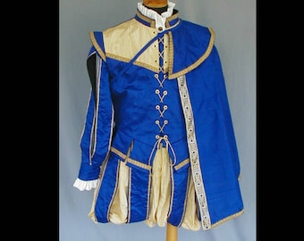 MADE to ORDER Men's Renaissance Elizabethan Court Doublet Costume - Size and Color Choice