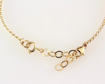 Necklace Extender Fixed Length Delicate chain in sterling