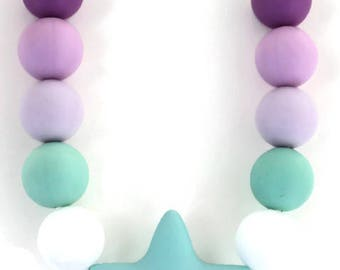 biting necklace, fidget necklace, sensory, chew necklace, adhd, autism, spd/sp/add, silicone teething, anxiety, chewable necklace, nail bite