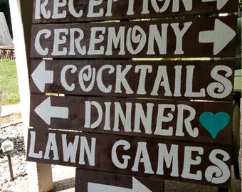 rustic wedding signs / wooden signs / wedding decorations / wedding signage / reception sign / ceremony signs / parking sign/ rustic wedding