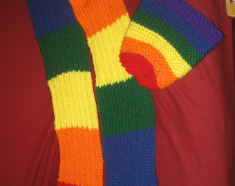 rainbow hat , scarf set
