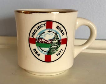 Boy Scouts of America Vintage 1970's Project Soar Mug