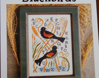Red-winged Blackbirds by Carriage House Samplings