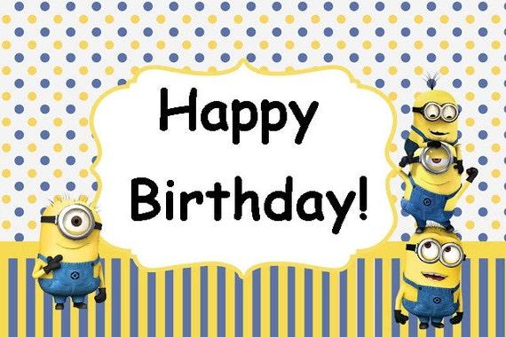 minion birthday card template - Kubre.euforic.co