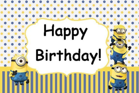 Minions Minion Movie Birthday Party Card Set Instant