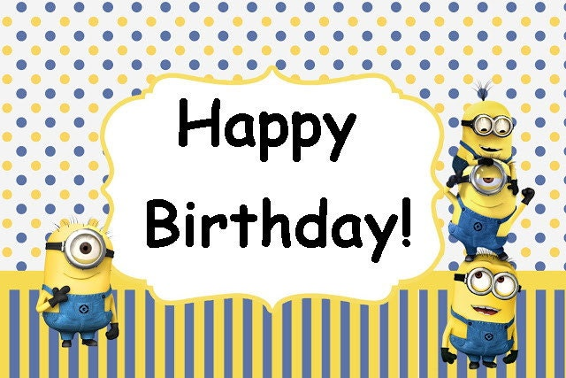 Minions minion movie birthday party card set instant zoom bookmarktalkfo Image collections