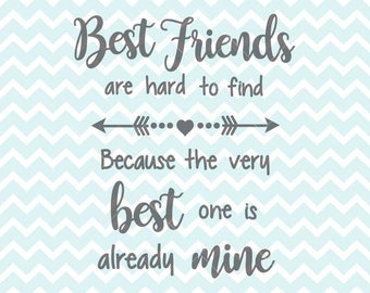 Best Friends SVG PNG Quote Clipart Printable