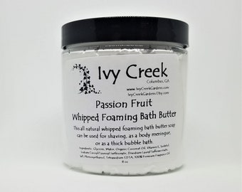 Passion Fruit Whipped Foaming Bath Butter, Whipped Bath Soap, Bath Butter, Whipped Soap, Shaving Butter, Gifts for Her, Gifts for Mom, Soap