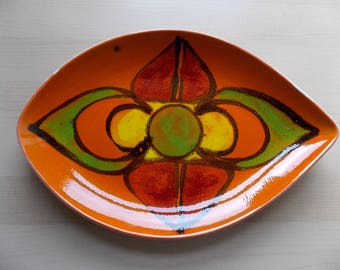 1960s Poole Delphis Pattern Spear Dish