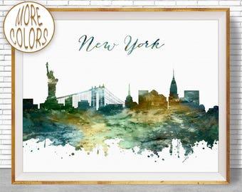 New York Poster New York Print New York Skyline NYC Art NYC Print NYC Skyline nyc Decor Office Wall Art Office Poster ArtPrintZone